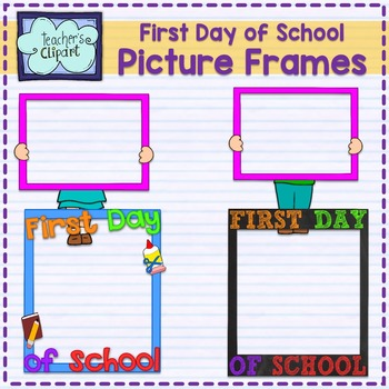 FREE} First Day of School FRAMES Clip Art by Teacher\'s Clipart | TpT