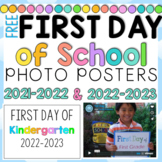 First Day of School Picture Posters FREE