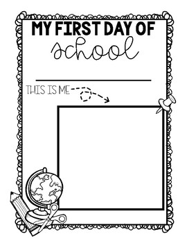 FREE First Day of School: This is Me Coloring Page
