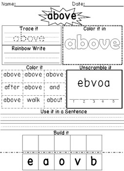 FREE First Grade Journeys Activity Pack Unit 6 Lesson 26