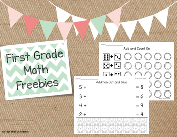 Missing Addends & Count On Worksheets {Freebie}