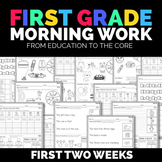 Free Morning Work for First Grade