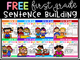 FREE First Grade Sentence Building