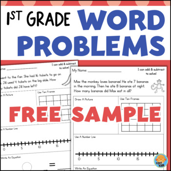First Grade Word Problems - Addition and Subtraction Within ...
