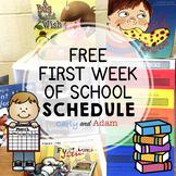 FREE First Week of School Schedule