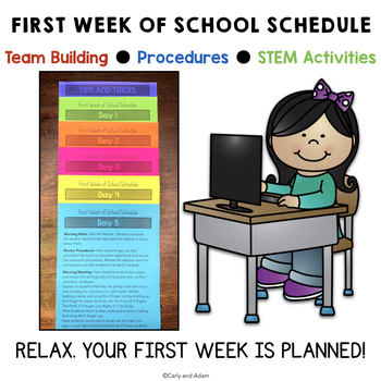 FREE First Week of School Schedule