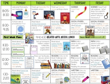 FREE [Back to School] Lesson Plans