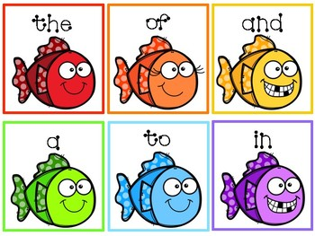 FREE Fish Sight Word Center