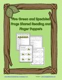 FREE Five Green and Speckled Frogs Shared Reading and Finger Puppets
