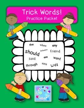 FREE!!!  Sample of No Prep!!! Trick Word Practice Packet