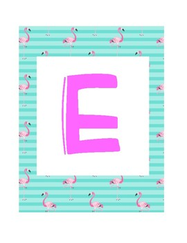 FREE Flamingo Turquoise Welcome Sign