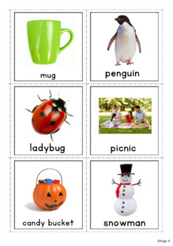 FREE Vocabulary Cards Bundle Sample