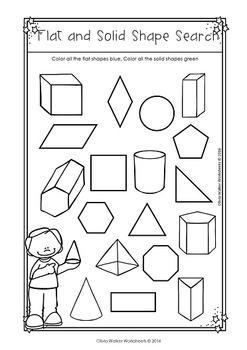 flat or solid shapes 2d or 3d shape sort geometry worksheets. Black Bedroom Furniture Sets. Home Design Ideas
