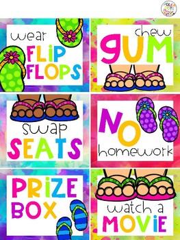 FREE Flip Flop Fun Classroom Reward Coupons