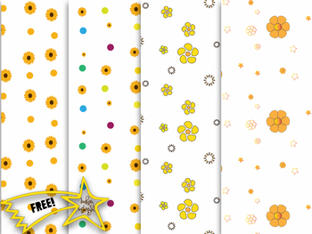 FREE!!! Flower Digital Papers