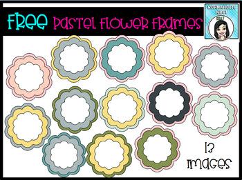 FREE Flower Frames Pastel Colors - 13 Frames