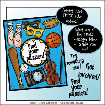 FREE Find Your Passion Poster Clip Art - Chirp Graphics