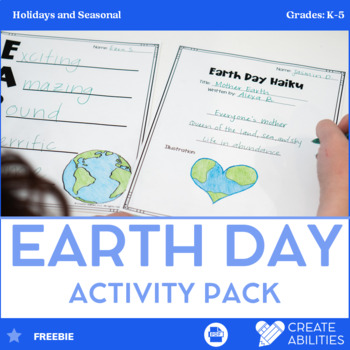 Earth Day Poetry Math and Writing Activities FREE