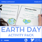 Earth Day Poetry, Math, and Writing Activities FREE