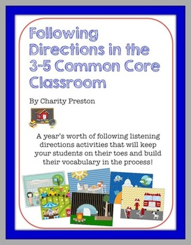 FREE Following Directions in the 3-5 Common Core Classroom Sample