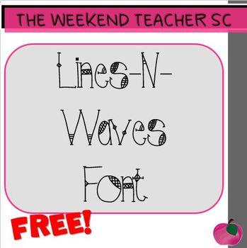 FREE Font- Lines-N-Waves