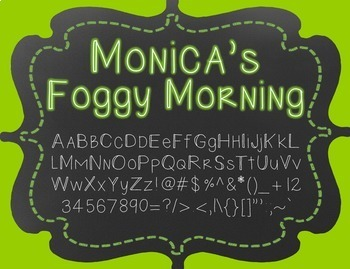 {FREE} Font - Monica's Foggy Morning
