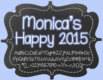 Monica's Happy 2015 {Font for Personal and Commercial Use}