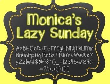 {FREE} Font - Monica's Lazy Sunday
