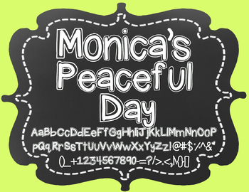 {FREE} Font - Monica's Peaceful Day