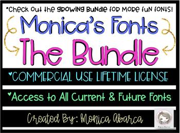 {FREE} Font - Monica's Raindrops