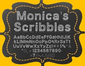 {FREE} Font - Monica's Scribbles