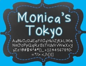 {FREE} Font - Monica's Tokyo Font