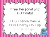 FREE Fonts for Personal and Commercial Use (CU) - The First Grade Scoop