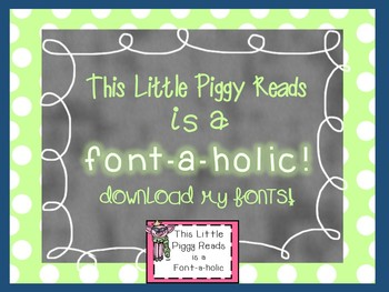 FREE Fonts to Use on TpT - Please Use Credit Button