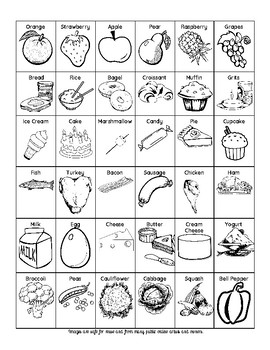 FREE Food Clipart Perfect for Food Group Sorting