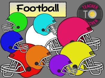 FREE Football Helmets {TeacherToTeacher Clipart}
