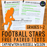 FREE Football Paired Texts: Cam Newton and Russell Wilson: