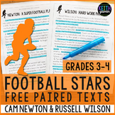 FREE Football Paired Texts: Cam Newton and Russell Wilson: (Grades 3-4)
