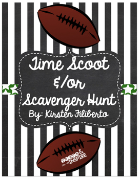 FREE Football Themed Time Scoot/Scavenger Hunt