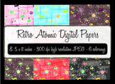 Atomic Retro Digital Background papers - Starburst - 1950's