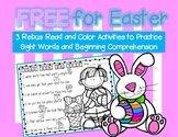 FREE For Easter - Rebus Read and Color for Sight Word Practice