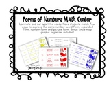 FREE Forms of Numbers Math Center