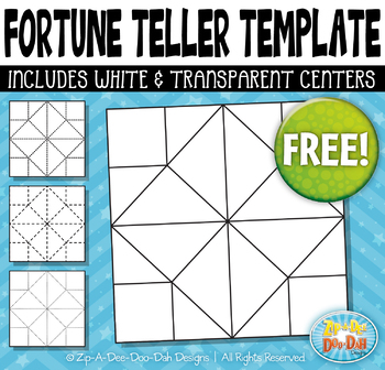 FREE Fortune Teller / Cootie Catcher Template Set {Zip-A-Dee-Doo-Dah Designs}