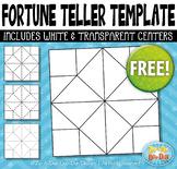 FREE Fortune Teller / Cootie Catcher Template Set {Zip-A-D