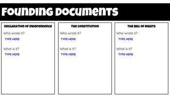 FREE!! Founding Documents - Interactive Google Slide