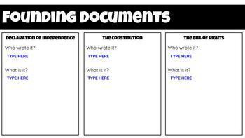 Founding Documents - Interactive Google Slide
