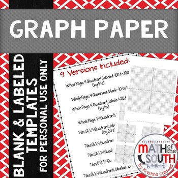 FREE Graph Paper Coordinate Plane Coordinate Grid Templates
