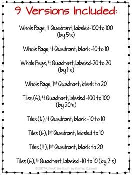 FREE - Graph Paper / Coordinate Plane / Coordinate Grid Templates
