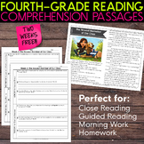 FREE Fourth Grade Weekly Reading Comprehension [Nonfiction