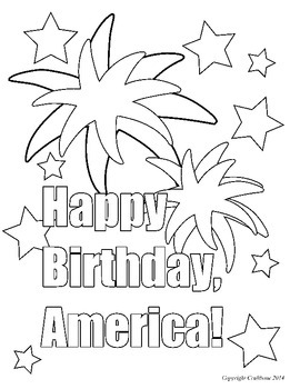 FREE Fourth of July Color Sheet! Follow Me to get a free product every month!